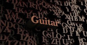 Guitar - Wooden 3D rendered letters/message Royalty Free Stock Image