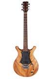 Guitare électrique d'isolement images libres de droits
