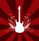 Guitare électrique de vecteur Images stock