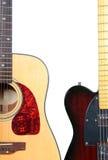Guitare électrique et acoustique Photo libre de droits
