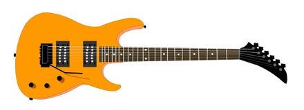 Guitare électrique jaune Images libres de droits