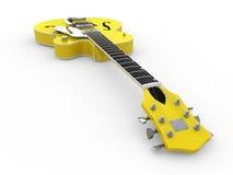 guitare électrique Limette-jaune Images stock