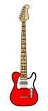 Guitare électrique rouge Images libres de droits