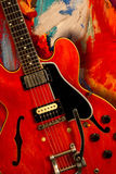 Guitare électrique rouge Photo libre de droits