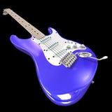 Guitare électrique sur un fond noir Photos libres de droits