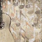 Guitare accoustic de fond criqué abstrait Photos stock