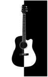 guitare Acoustique-électrique Image libre de droits