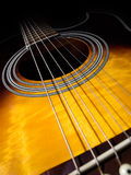 Guitare acoustique Photographie stock
