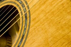 Guitare acoustique image stock