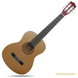 Guitare acoustique illustration libre de droits