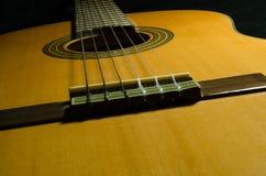 Guitare acoustique classique photographie stock libre de droits