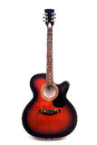 Guitare acoustique enorme Photographie stock libre de droits