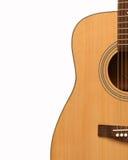 Guitare acoustique jaune Images stock