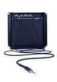 Guitare aplifier avec le câble Photos stock