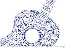 Guitare avec l'harmonie illustration de vecteur
