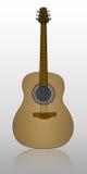 Guitare avec l'ombre Images libres de droits