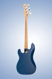 Guitare basse mate bleue Images stock