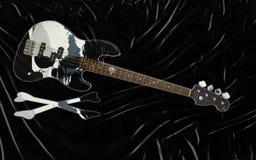 Guitare basse noire Photos libres de droits