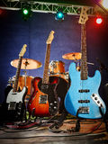 Guitare basse, rythme, avance Photo stock