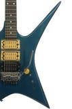 Guitare bleue Image libre de droits