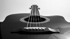 Guitare BYN Photo libre de droits