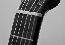 Guitare classique B&W Photo stock
