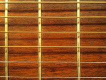 Guitare - configuration de Fretboard Photographie stock libre de droits