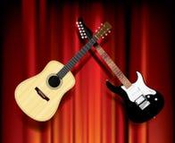 Guitare d'EL acoustique Image libre de droits
