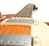 Guitare d'orange de bleus images stock
