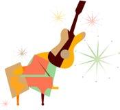 Guitare de couleur Illustration de Vecteur