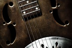 Guitare de cru Photographie stock