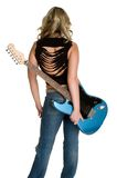 Guitare de femme Photo libre de droits