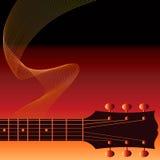 Guitare de fumage   Image stock