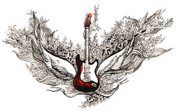 Guitare de roche illustration stock
