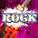 Guitare de roche Photo libre de droits