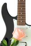 Guitare de Rose Photographie stock libre de droits