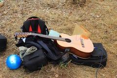 Guitare de rue Photos stock