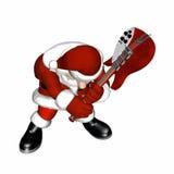 Guitare de Santa - fracas Photo libre de droits