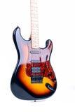 Guitare de six chaînes de caractères Photographie stock libre de droits