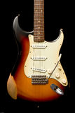 Guitare de Stratocaster de cru Photo libre de droits