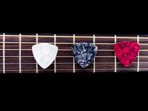 Guitare de trois sélections image libre de droits