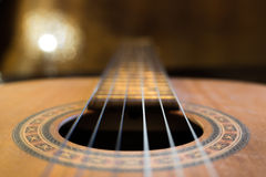 Guitare de trou sain Photographie stock
