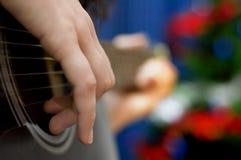 Guitare de vacances Image libre de droits