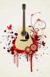 Guitare de vecteur illustration de vecteur