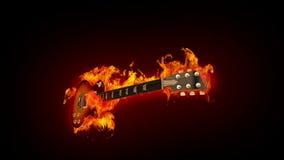 Guitare du feu illustration stock