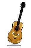 Guitare en bois de pays de bande dessinée Photos libres de droits