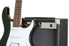 Guitare et amplificateur Photographie stock