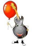 Guitare et ballon Photographie stock