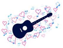 Guitare et coeur illustration libre de droits