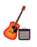 Guitare et l'amplificateur Image libre de droits